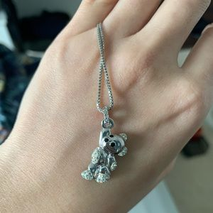 Swarovski Bear Pendant Necklace